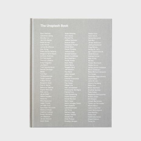 The unsplash book i två storlekar